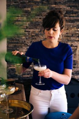 Inschenken champagne